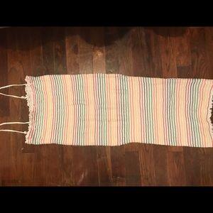 Rainbow tube dress.